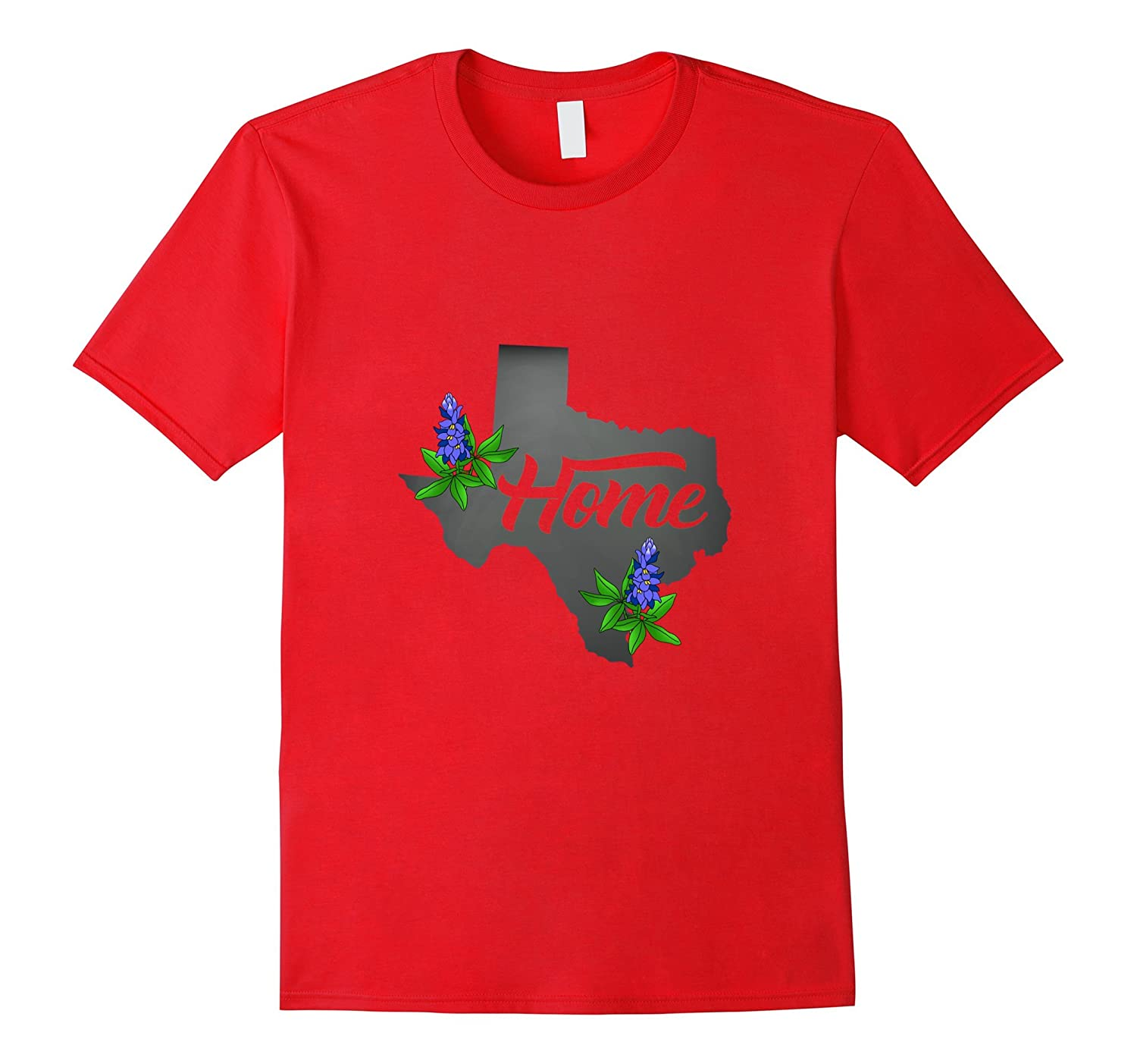 Texas Home Chalkboard State Flowers Bluebonnet T-Shirt-TH