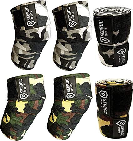 Ladies Power Lifter Weight Lifting Knee Wraps Supports Gym Training Pair camo