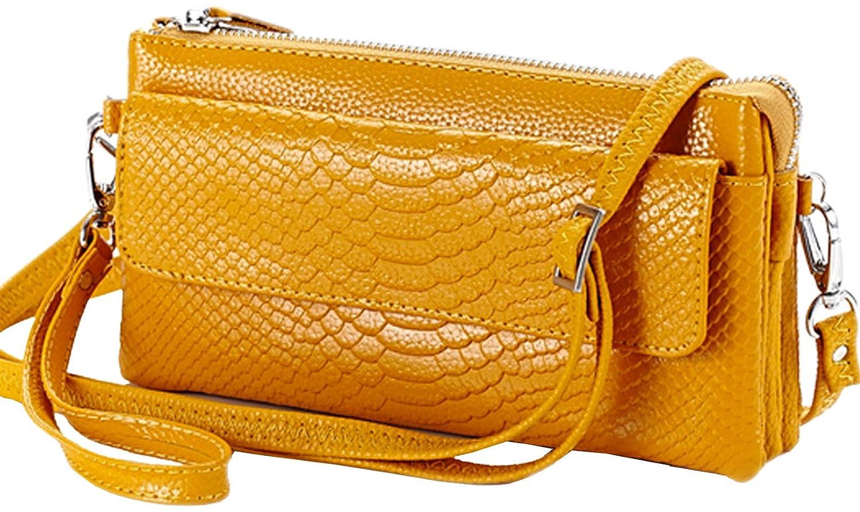 Hereby Kuer(TM) Women鈥檚 Leather Shoulder Bag Cross Body Handbag Messenger satchel Clutch Purse
