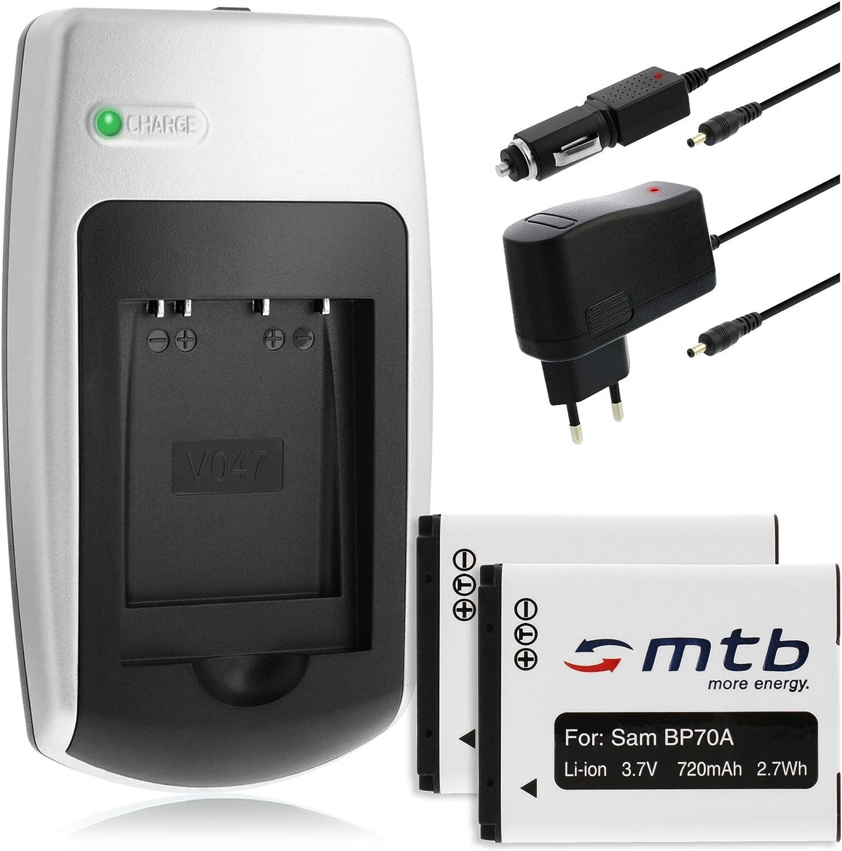 EA-BP70A per Samsung PL121 Caricabatteria PL170 PL200 PL171 USB PL201