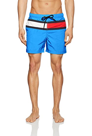 207a6bb16e585 Tommy Hilfiger Men's's Flag Trunk Swim Shorts, Blue (Daphne 499), ...