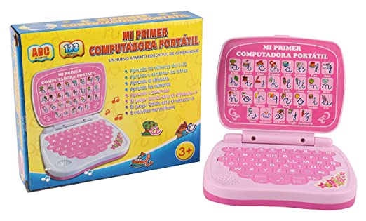 Pasaca Toys Kids Spanish Learning Laptop, My First Computer with 6 Learning Game, Touch...