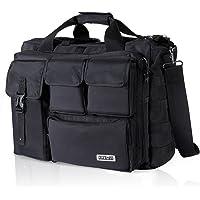 "Lifewit 17.3"" Men's Military Laptop Messenger Bag Multi-functional Tactical Briefcase Computer Shoulder Handbags, Black"