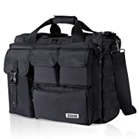 "Lifewit 17.3"" Men's Military Laptop Messenger Bag Multi-functional Tactical Briefcase Computer Shoulder Handbags, Black"