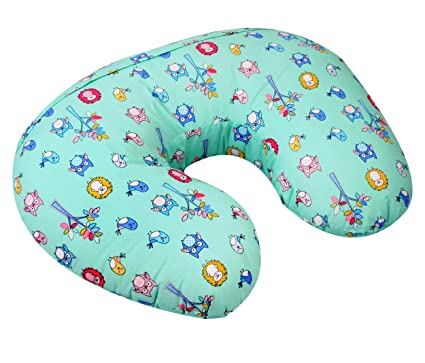 57ff22b096c Buy Baby Grow Nursing Pillow with Slipcover Cotton Feeding Pillow and  Positioner with Baby Printed Slipcover Baby Feeding Pillow for Mother (Blue  Piggy) ...