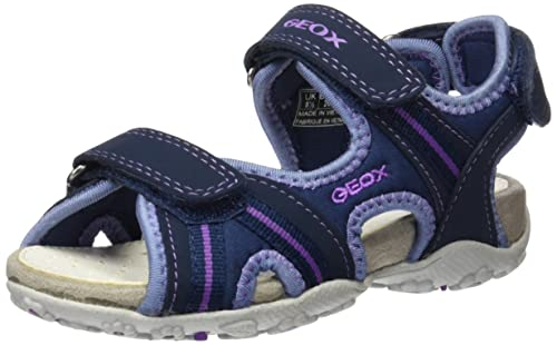 Geox Jr Roxanne A, Sandales Bout Ouvert Fille