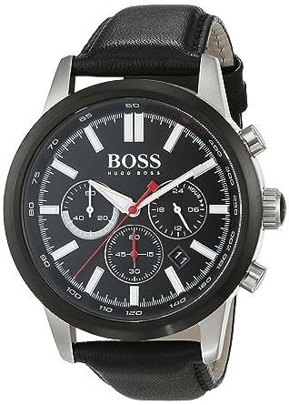 ba7b9b8b53f Hugo Boss - 1513191 - Montre Homme - Quartz - Chronographe - Chronomètre -  Aiguilles -