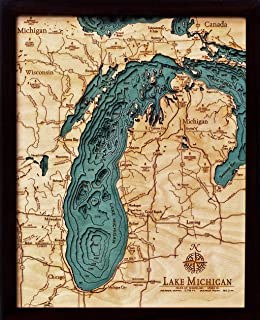 Amazoncom Great Lakes 3D Nautical Wood Chart 245 x 31 Prints