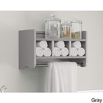 Amazon Alaterre 25 In Bathroom Storage Shelf With Towel Rod