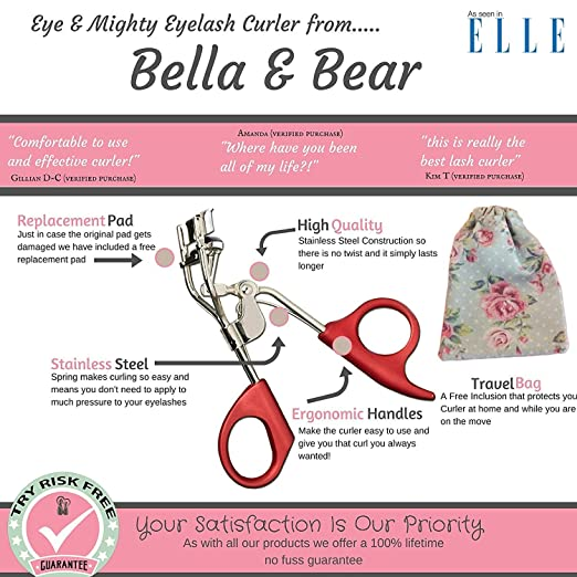revlon eyelash curler with spring. amazon.com : eyelash curler by bella and bear - your new lash curlers include a storage bag extra refill pads curl shape eyelashes without revlon with spring p