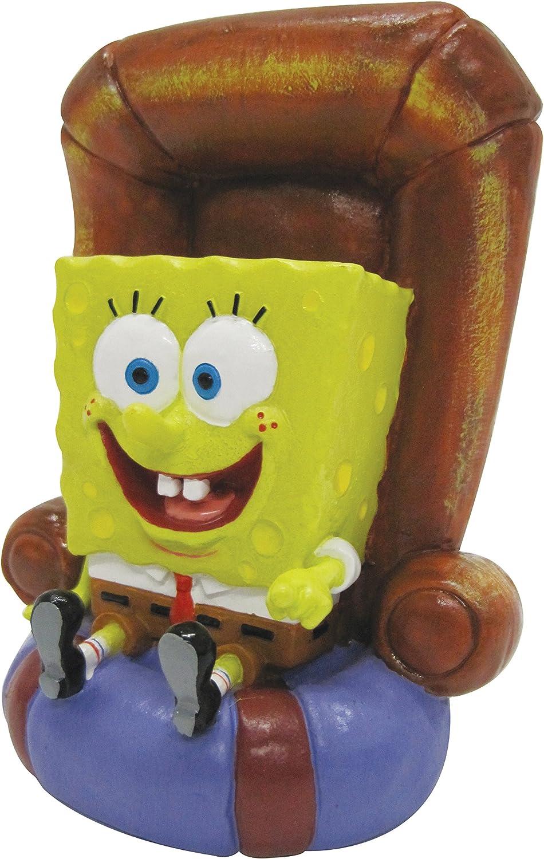 Penn Plax SpongeBob in Chair Resin Aquarium Ornament