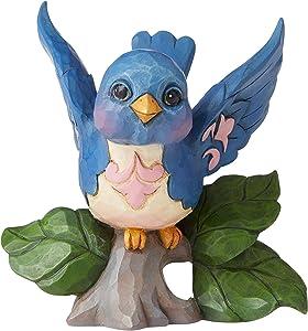 "Enesco Jim Shore Heartwood Creek Mini Bluebird Figurine, 3.5"", Multicolor"