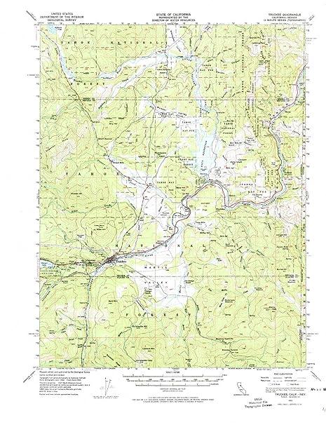 Amazon Com Yellowmaps Truckee Ca Topo Map 1 62500 Scale 15 X 15
