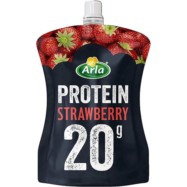 Arla Protein Yogurt Fresa - 200 gr.: Amazon.es: Alimentación ...
