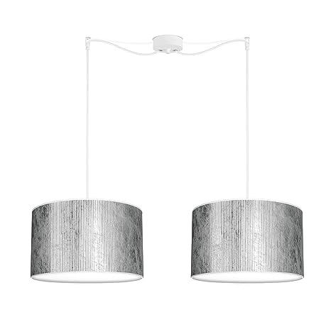 Bulb Attack Tres Plisado L S_2 Lámpara Colgante de 2 Luces con 2 Pantallas de Diseño