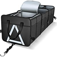 Knodel Sturdy Car Trunk Organizer with Premium Insulation Cooler Bag, Heavy Duty Collapsible Cargo Storage Container…
