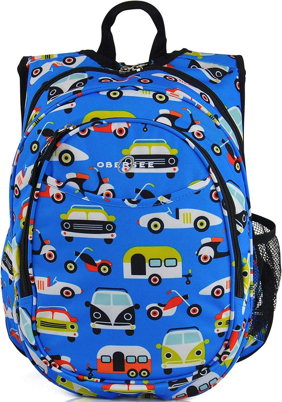 03 Sac à dos compact enfant maternelle avec pochette refroidisseur. Moto bleue bleu