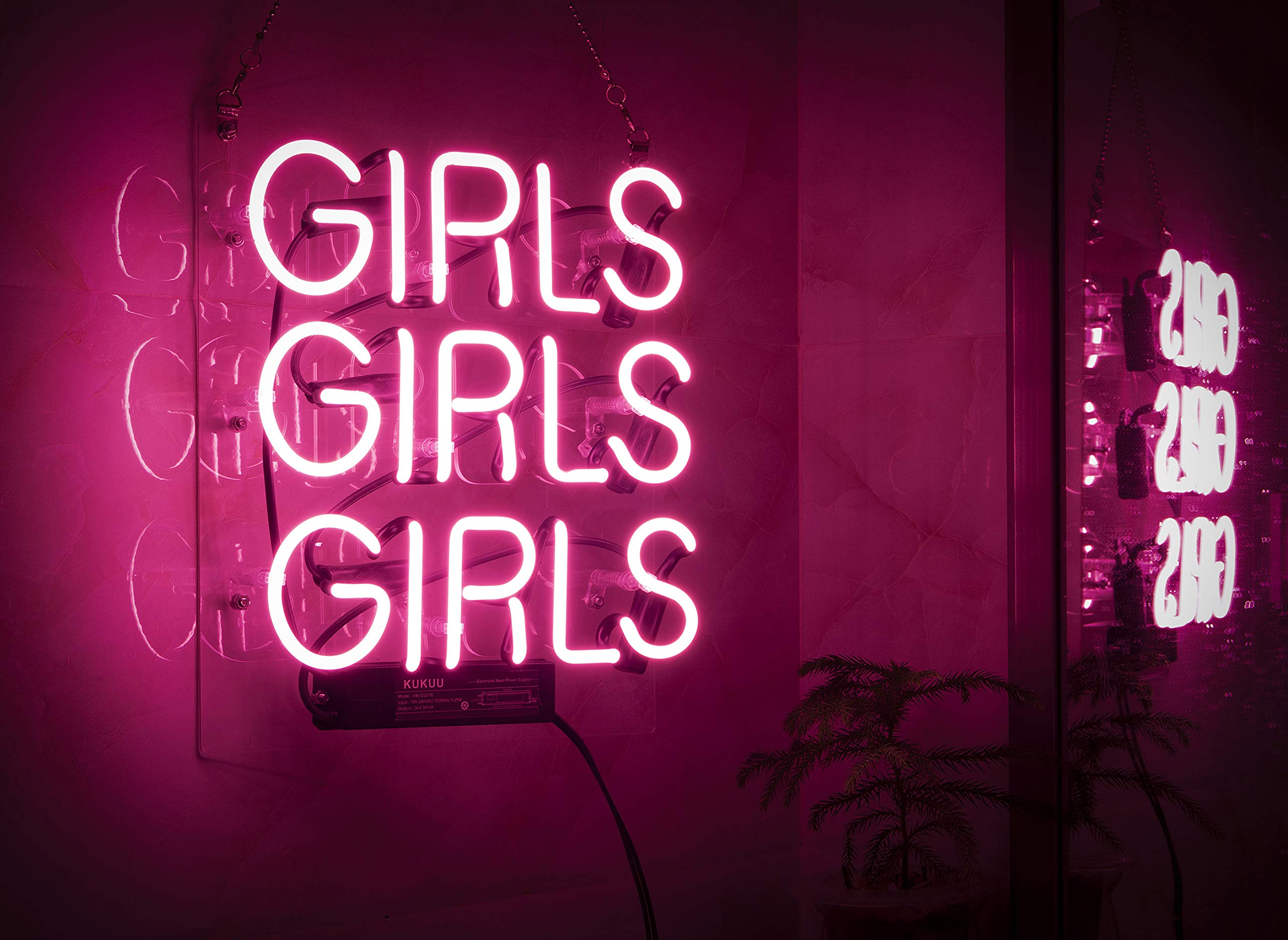 Neon Signs Girl Girls Girls Girls Neon Signs Girl Wall Decor Neon Light Sign Led Sign for Bedroom Neon Words Cool Art Neon Sign Cute Neon Lamps Home Room Beer Bar Custom Red Neon Wall Light 12''x10.6''