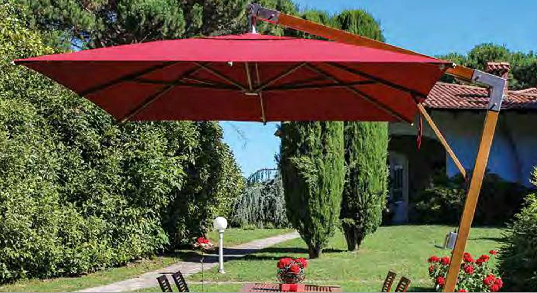 Sombrilla rectangular deporté en acrilma acrilyque, color rojo ...