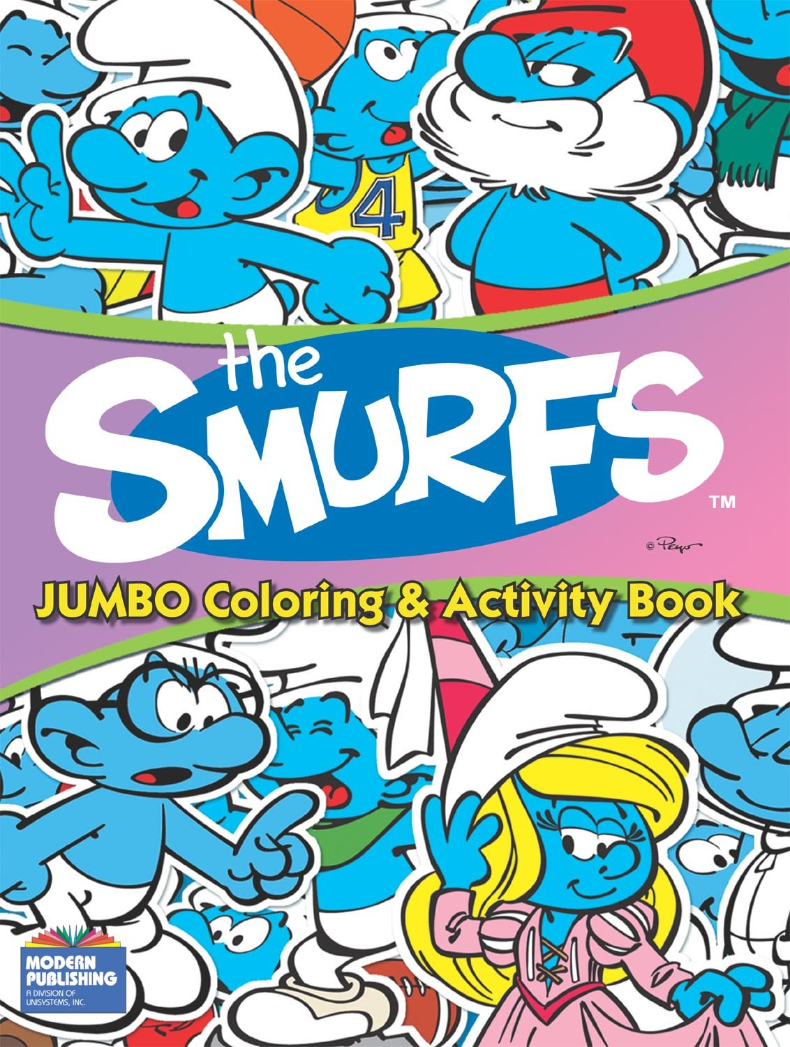 the Smurfs Jumbo Coloring and Activity Book: Modern Publishing ...