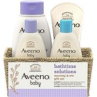 Aveeno Baby Mommy & Me Daily Bathtime Gift Set including Baby Wash & Shampoo, Calming Baby Bath & Wash, Baby…