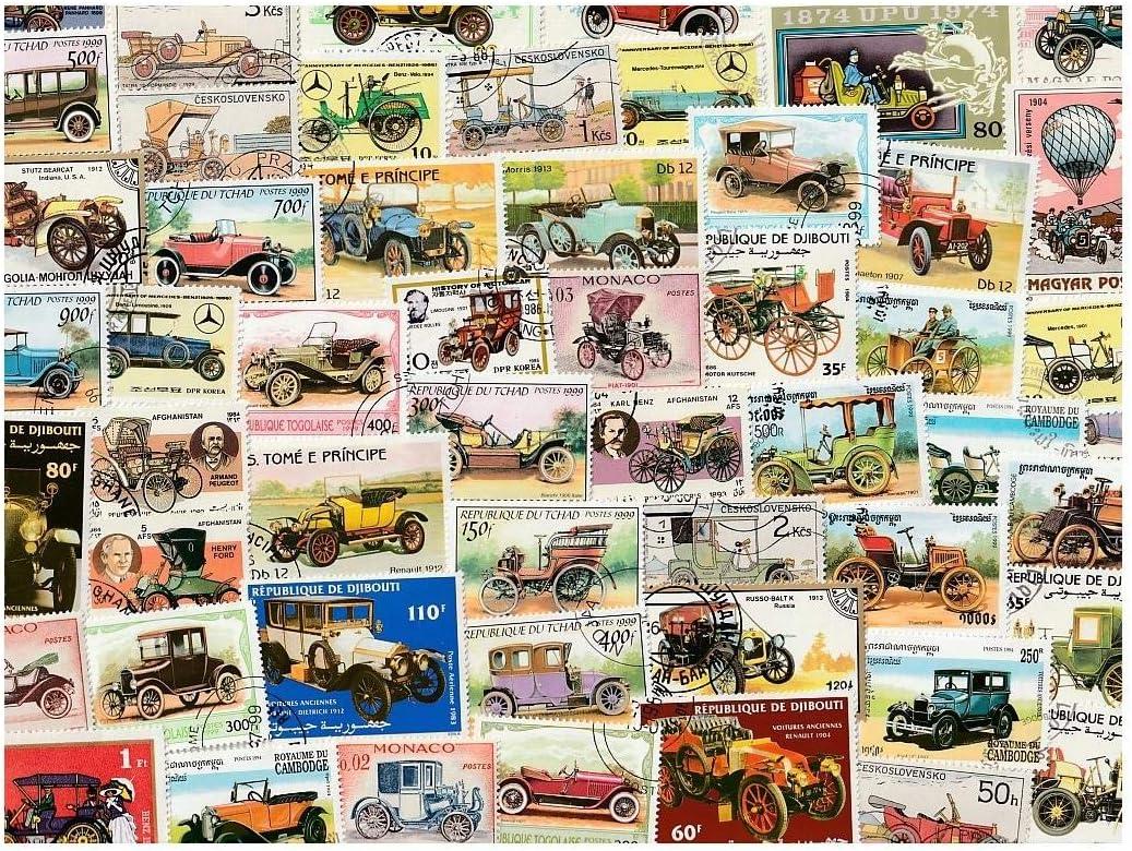 pghstamps Coches Antiguos 25 Colección de Diferentes Sellos para coleccionistas: Amazon.es: Juguetes y juegos