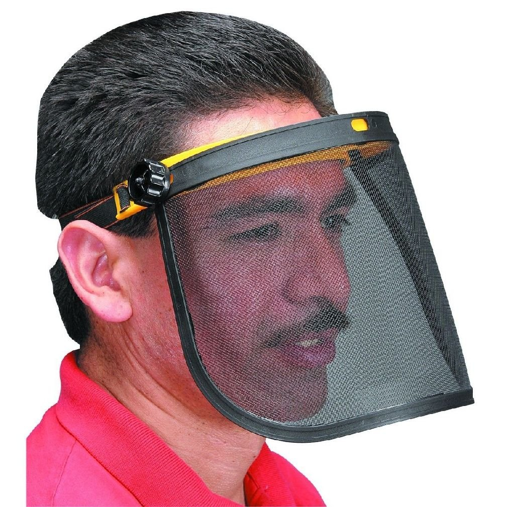 Adjustable Full Mesh Material Flip Up Face Safety Shield Stay Cool & Protected