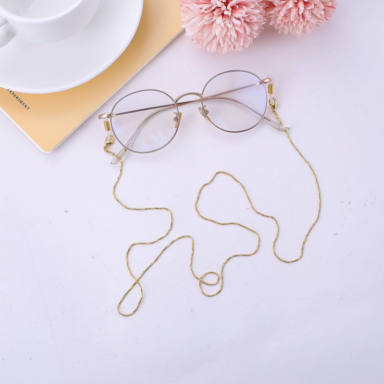 fishhook Delicate Eyeglasses Snake String Holder Chain Sunglasses Reading Glasses Strap Holder Chain Keeper Lanyard for Women Men Girls Grandma