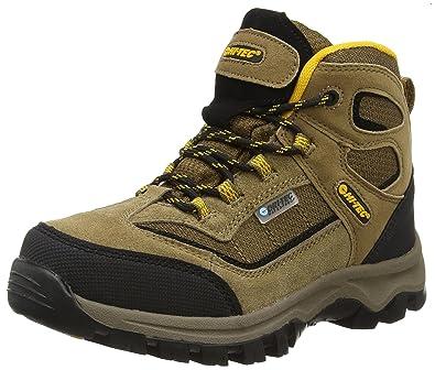 Hi-Tec Unisex Kids' Hillside Waterproof Junior High Rise Hiking Boots,  Brown (