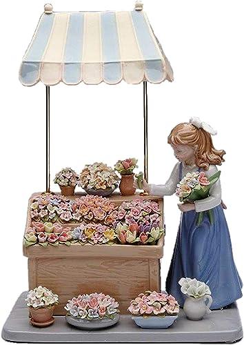 Cosmos 96564 Flower Girl Shoppe Ceramic Figurine, 13-3 8-Inch