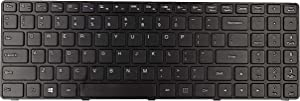 KBR Replacement Keyboard for Lenovo ideapad 100-15IBD 80QQ 80QQ00E6US B50-50 SN20J78609 V6385H with Frame Without Backlight US Layout