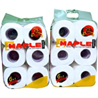 Maple 2 Ply - 12 Roll Pack of Embossed Toilet Tissue (315 sheets in each roll)