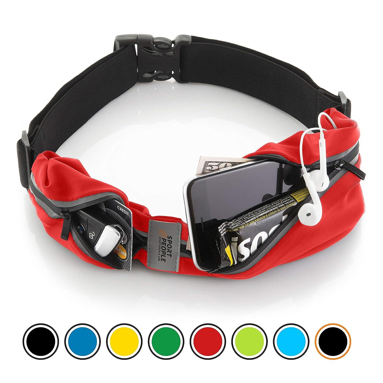Laufen Gürteltasche für Herren und Damen - Laufgürtel Bauchtasche für iPhone 6, 7 Plus. Sport Hüfttasche Hände Frei Jogging, Laufen - Reflektierend Läufer Gürtel