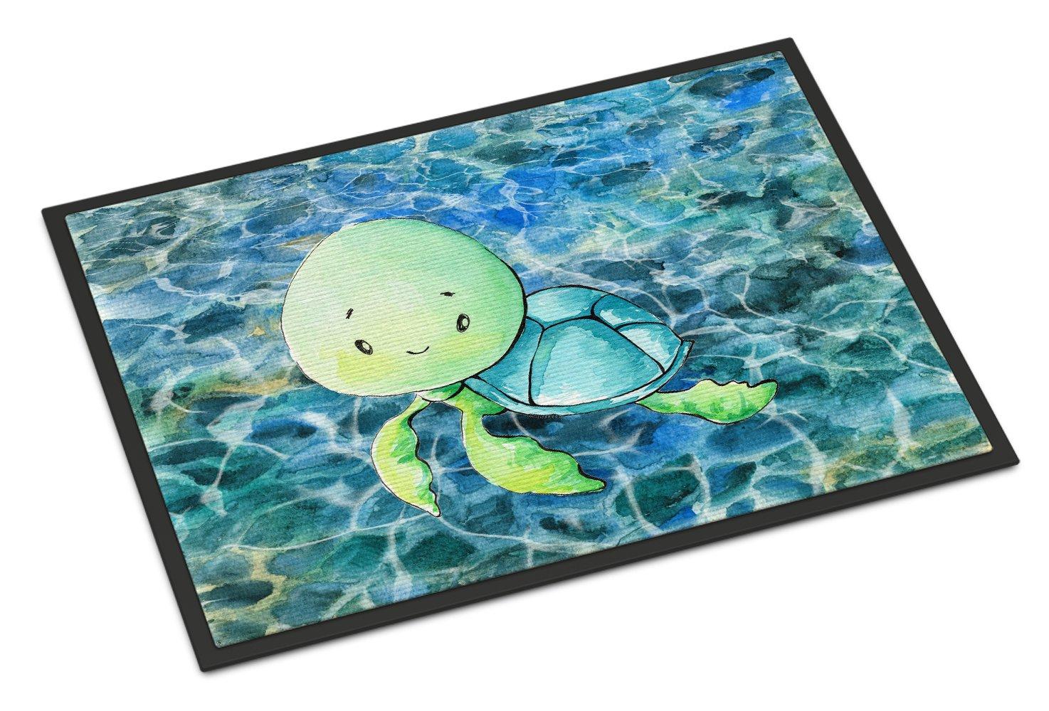 Carolines Treasures Sea Turtle Doormat 24 x 36 Multicolor