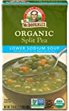 Dr. McDougall's Right Foods Organic Lower Sodium Split Pea Soup, 17.6 Ounce (Pack of 6)