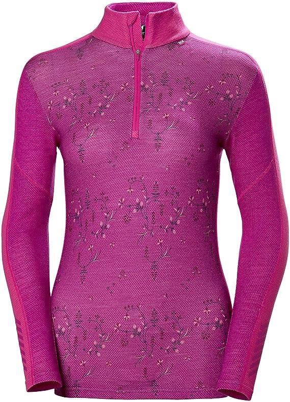 Helly Hansen Womens HH LIFA Merino Wool 1//2 Zip Lightweight 2-Layer Long-Sleeve Thermal Baselayer Top