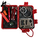 Wilker Survival Kit Emergency SOS Survive Tool Pack for Camping Hiking Hunting Biking Climbing Traveling and Emergency