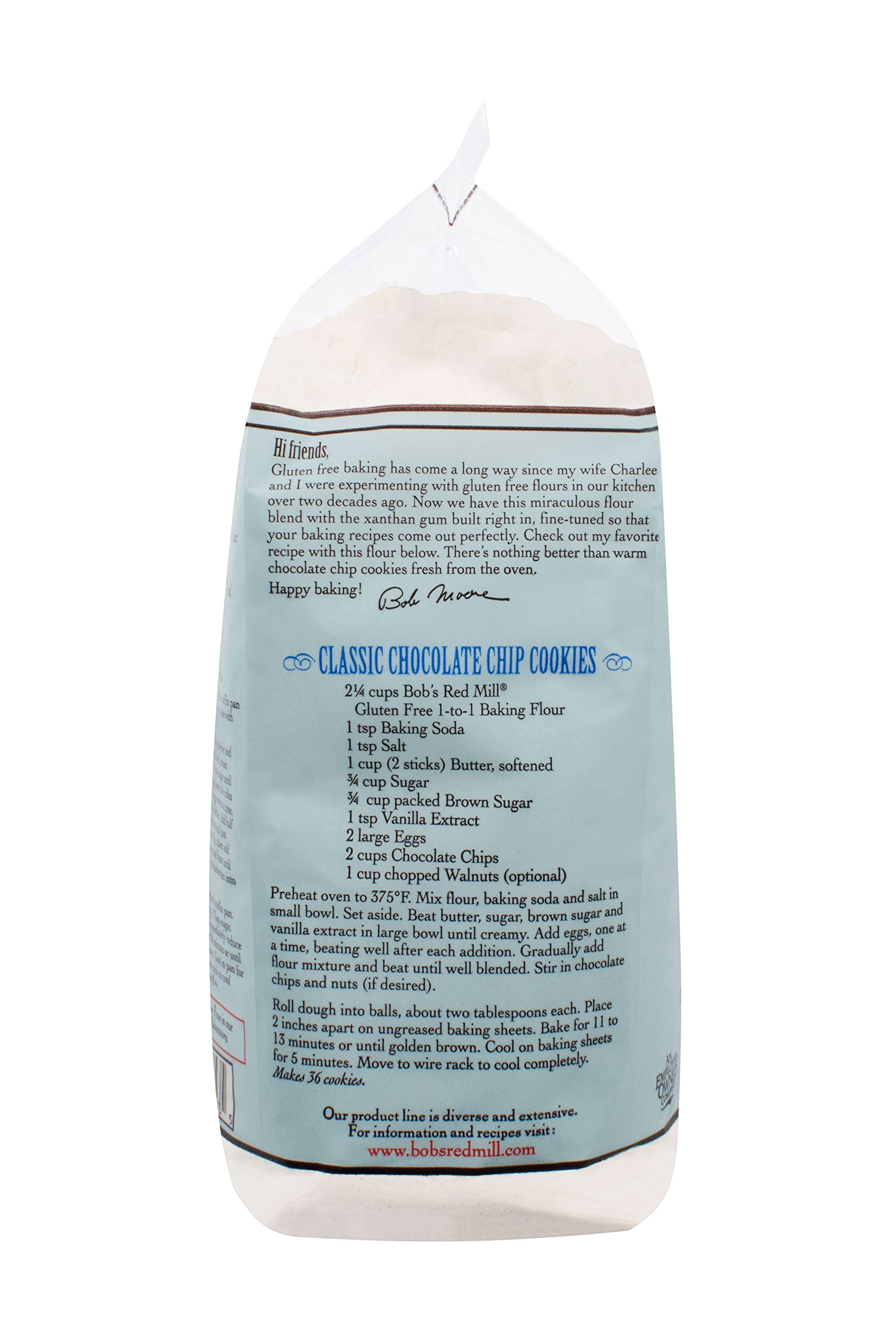 Bob's Red Mill Gluten Free 1 to 1 Baking Flour, 44 Ounce (Pack of 4) by Bob's Red Mill (Image #5)