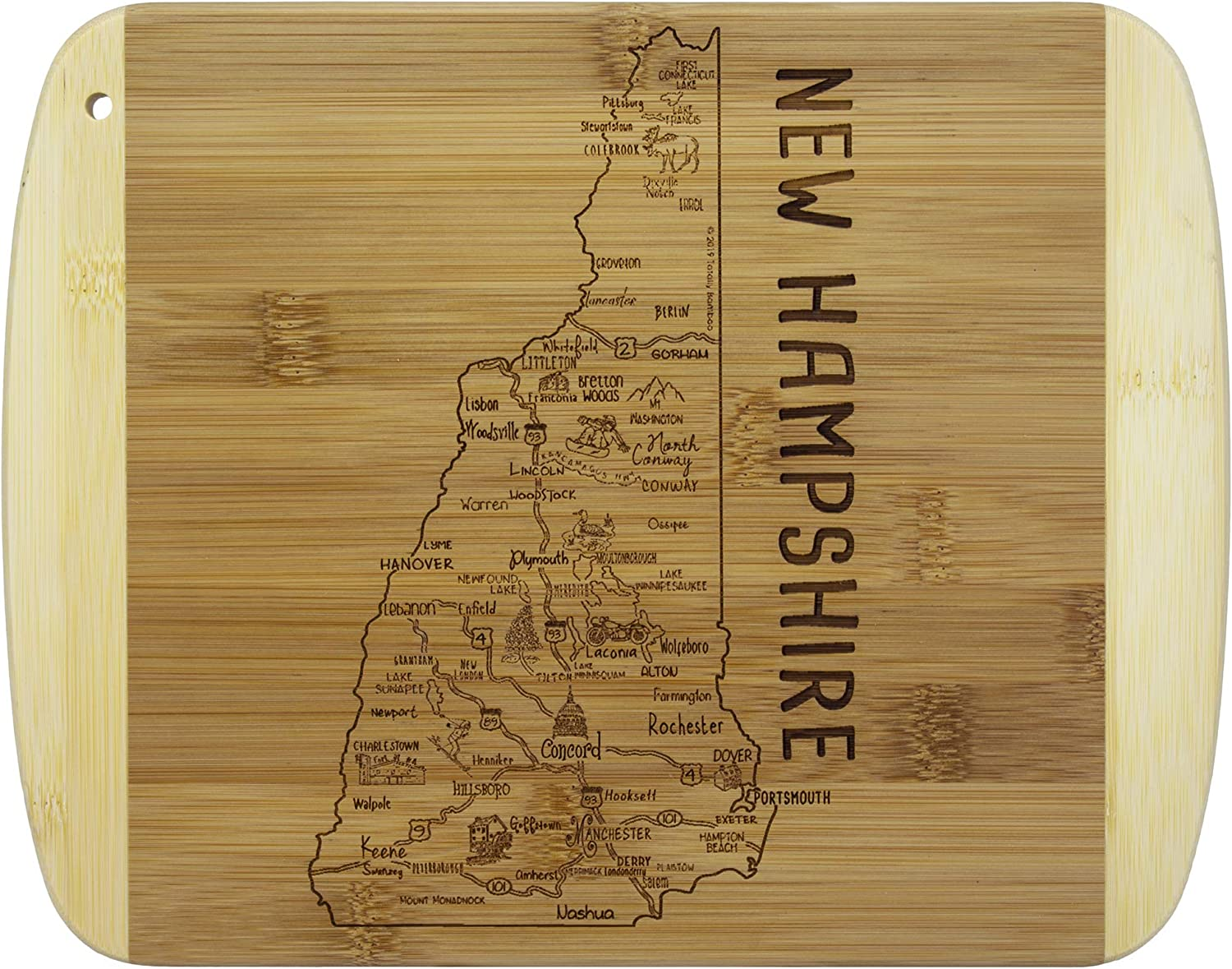 Totally Bamboo A Slice of Life New Hampshire Bamboo Serving and Cutting Board