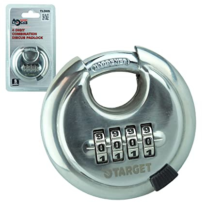 Target Locks® 4 dígitos de combinación 65 mm Candado | multiusos resistente cerradura de alta