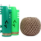 Hemp Wick Bundle Pack: 200 FT Hemp Roll + 2 Hemp Wick Lighters (Lime/Green) …