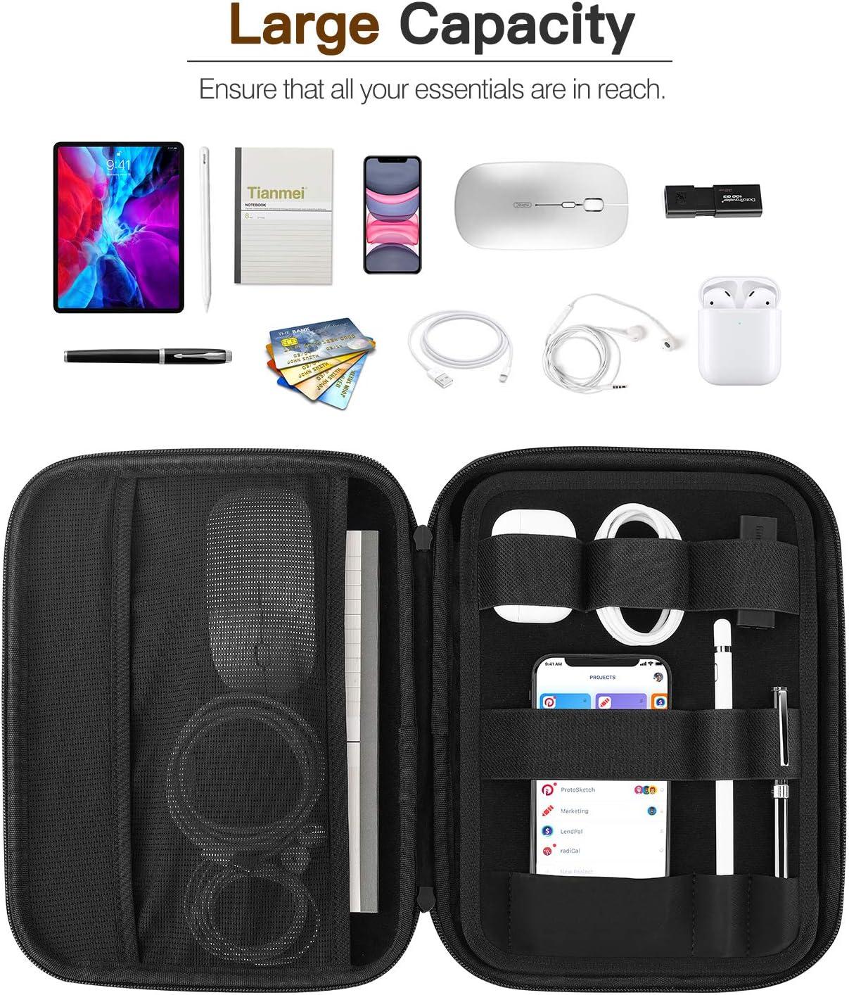 Galaxy Tab A 10.1 Hard EVA Carrying Business Portfolio Case Fits iPad Pro 11 Tab S6 Lite iPad 9.7 Air 3 10.5 MoKo 9-11 Inch Tablet Sleeve Bag iPad Air 4 10.9 S7 iPad 8th 7th Generation 10.2
