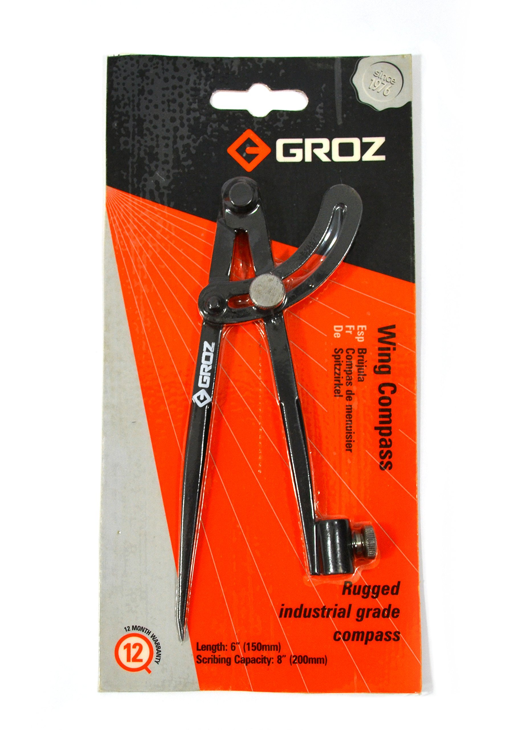 GROZ 6-inch Wing Compass   Industrial Grade (01550) by Groz (Image #1)