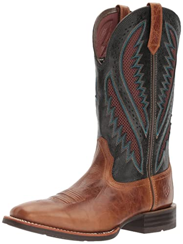 Men's Quickdraw Venttek Western Cowboy Boot Gingersnap 8 2E US