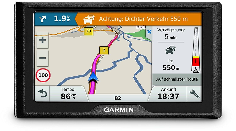 Garmin Drive 61 LMT-S CE Navigationsger/ät Sicherheitspaket 6 Zoll Touchdisplay 15,2cm lebenslang Kartenupdates /& Verkehrsinfos