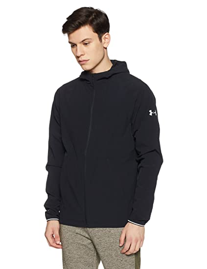 wholesale dealer fc592 15564 Under Armour Men s Outrun The Storm Jacket, Black (001) Reflective, XXX.  Roll over image to zoom in