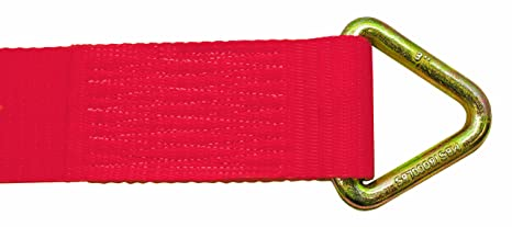 Multiprens 2031-27 Yellow 3 Winch Strap with #120 Delta Ring-27ft