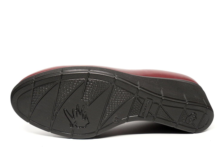 PITILLOS Damen Schuhe Leder sehr erhältlich komfortabel Schablone Kupplung – erhältlich sehr in Burgunderrot und Schwarz, seitliche – 1821 – 569  Schwarz b8284a