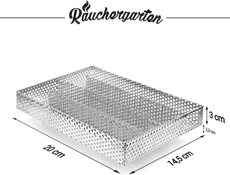 Kaltrauchgenerator Edelstahl Sparbrand Räuchern Räucherspirale Kaltraucherzeuger