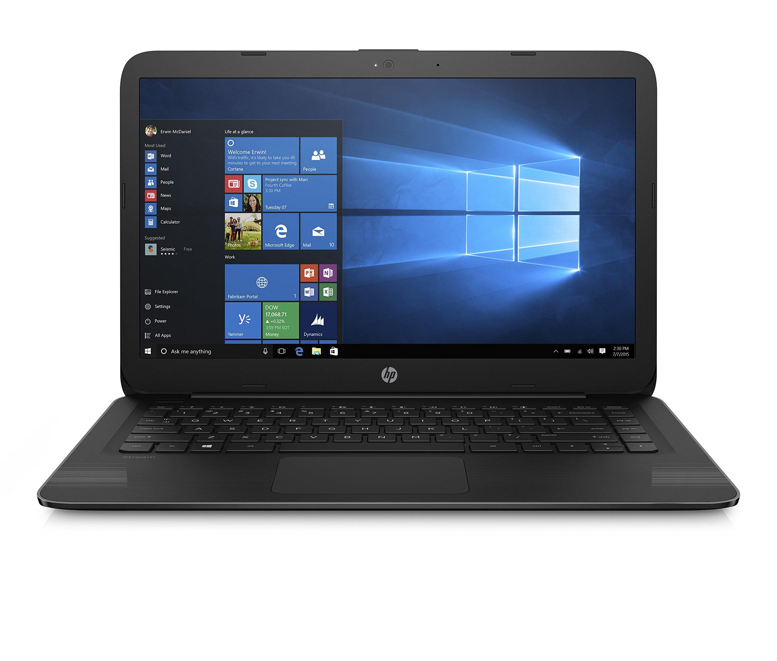 HP 14 Inch Stream Laptop, Intel Celeron N3060 Processor, 4GB RAM, 32GB eMMC, 1-year Office 365 Personal included, HDMI by HP